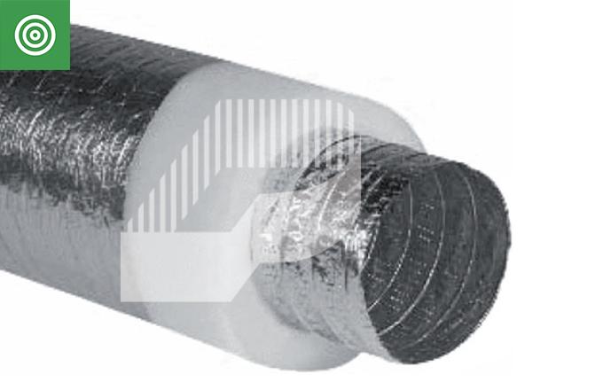 Tubo superflexible de aluminio ALUFLEX aislado