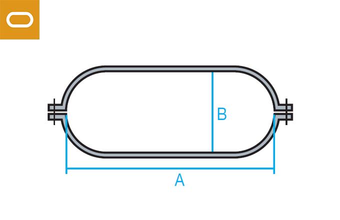 Accesorio conducto oval - abrazadera