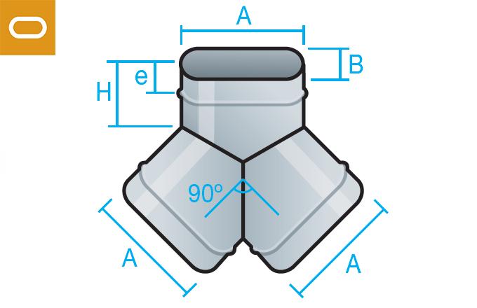 Accesorio conducto oval - pantalón