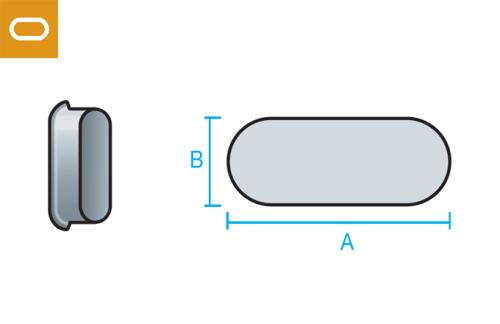 Accesorio conducto oval - tapa