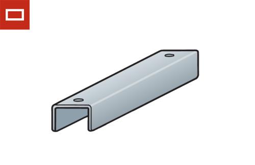 Perfil de soportación para conducto rectangular