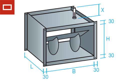 Regulador rectangular de caudal constante