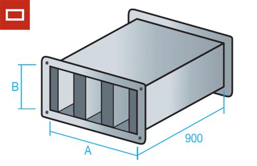 Silenciador para conducto rectangular