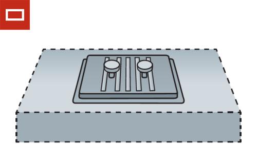 Tapa registro RD rectangular