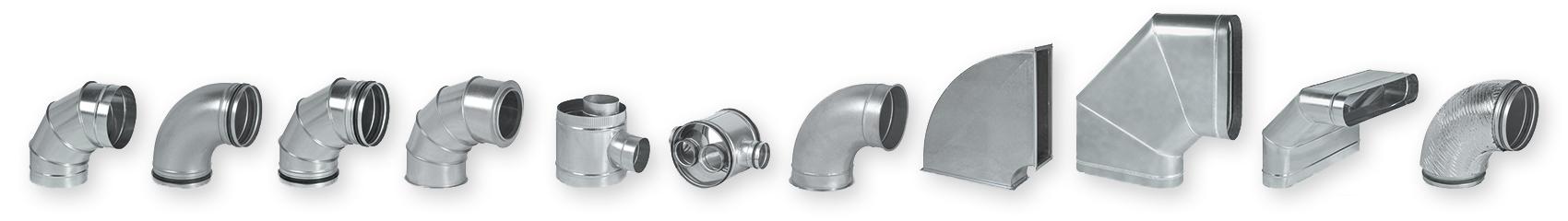 gama de conductos y accesorios para tubos de ventilación y climatización Novatub