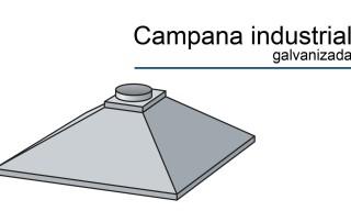 Campana industrial galvanizada