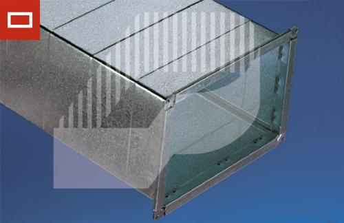 conducto rectangular galvanizado