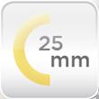 Espesor aislamiento 25mm