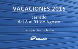Novatub vacaciones 2015